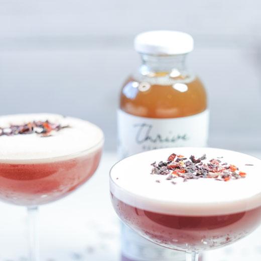 Calming Hibiscus Martini