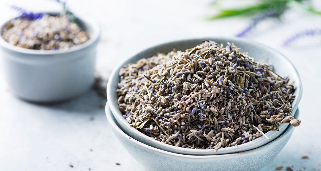 lavender tea in a dish